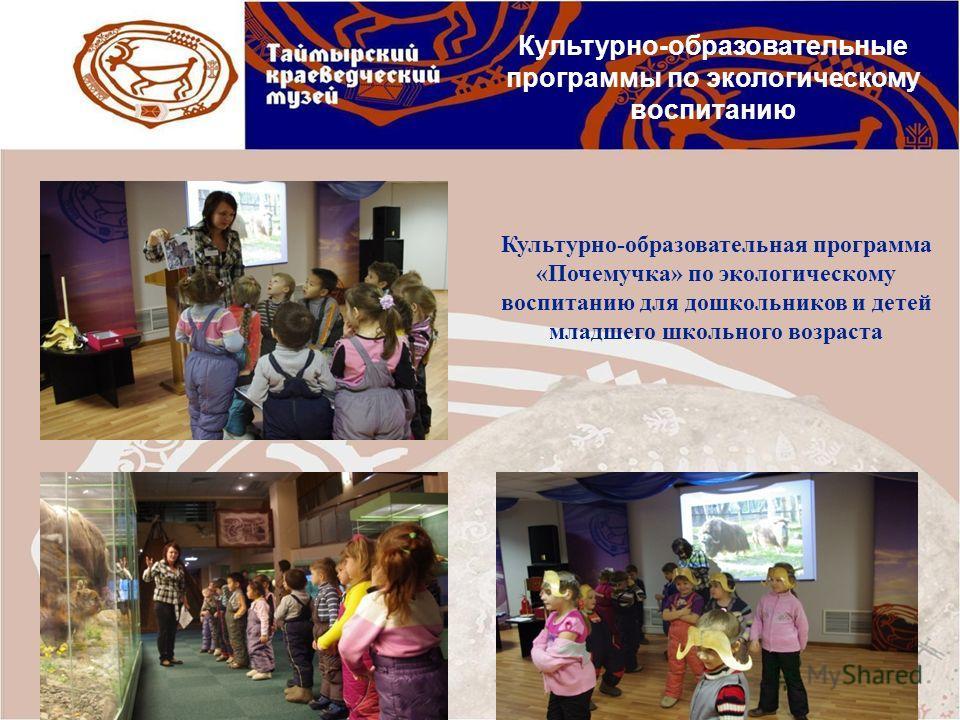 Культурно-образовательная программа «Почемучка» по экологическому воспитанию для дошкольников и детей младшего школьного возраста Культурно-образовательные программы по экологическому воспитанию