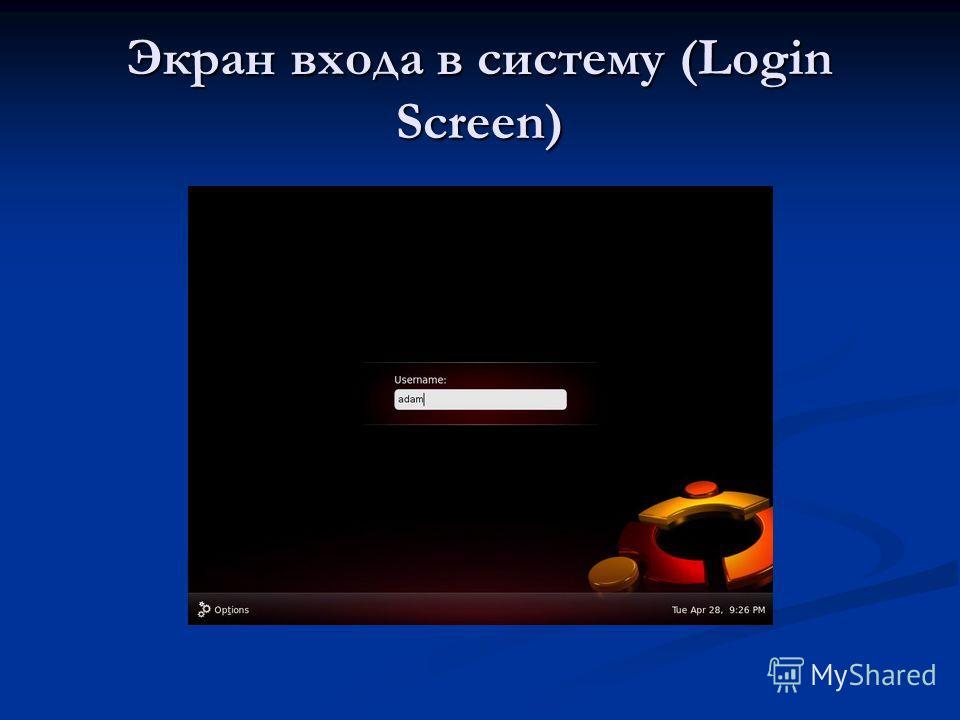 Экран входа в систему (Login Screen)