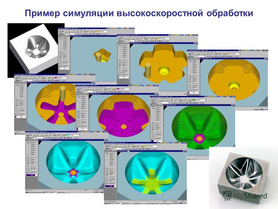 Пример симуляции высокоскоростной обработки
