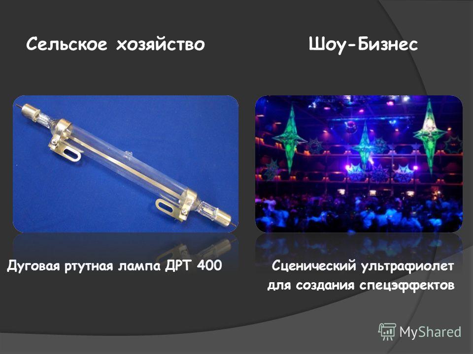 Сельское хозяйство Шоу-Бизнес Дуговая ртутная лампа ДРТ 400 Сценический ультрафиолет для создания спецэффектов