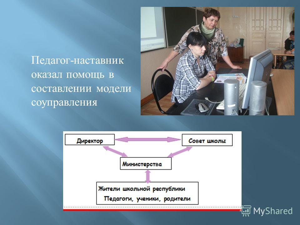 Педагог - наставник оказал помощь в составлении модели соуправления