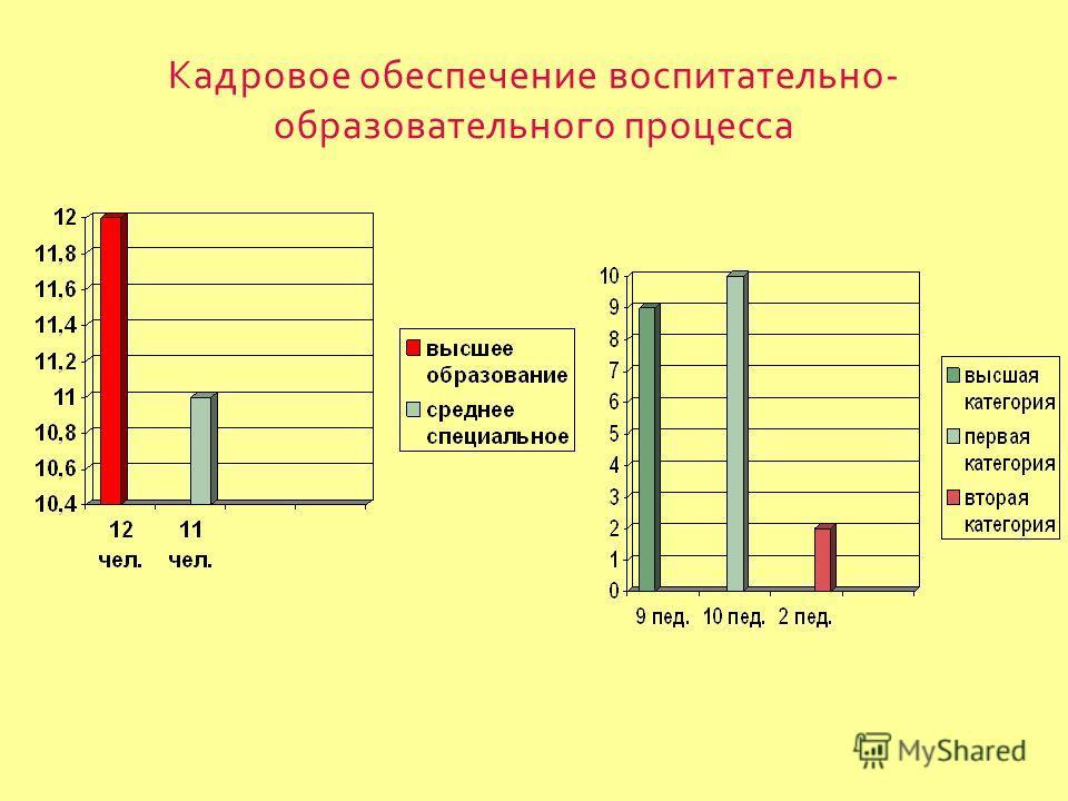 Кадровое обеспечение воспитательно - образовательного процесса