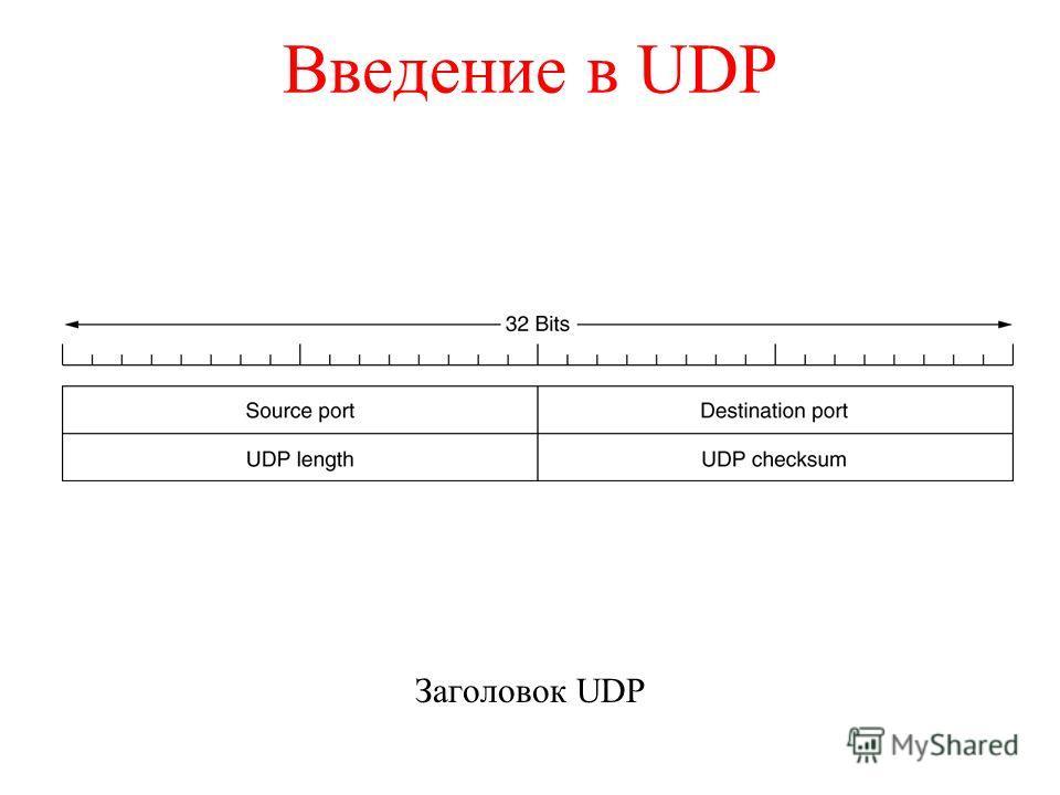 Введение в UDP Заголовок UDP