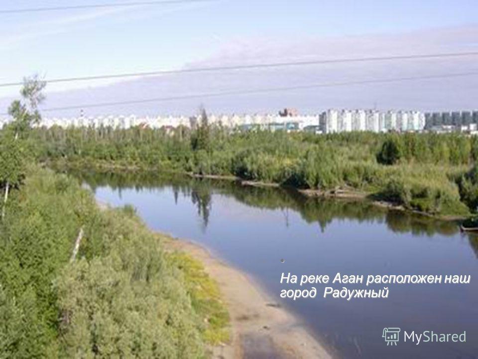 На реке Аган расположен наш город Радужный