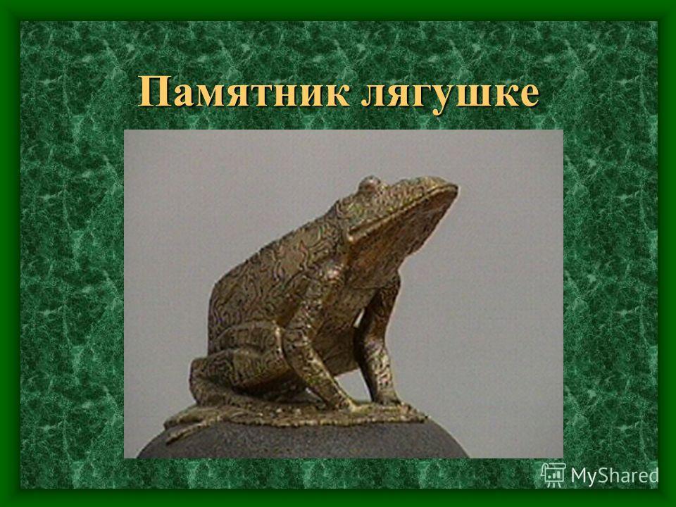Памятник лягушке