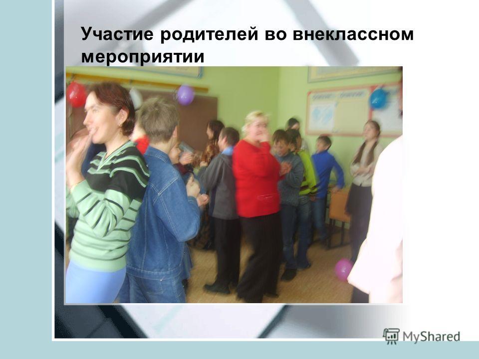 Участие родителей во внеклассном мероприятии