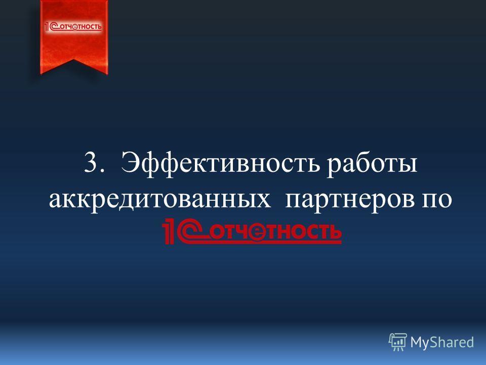 3. Эффективность работы аккредитованных партнеров по