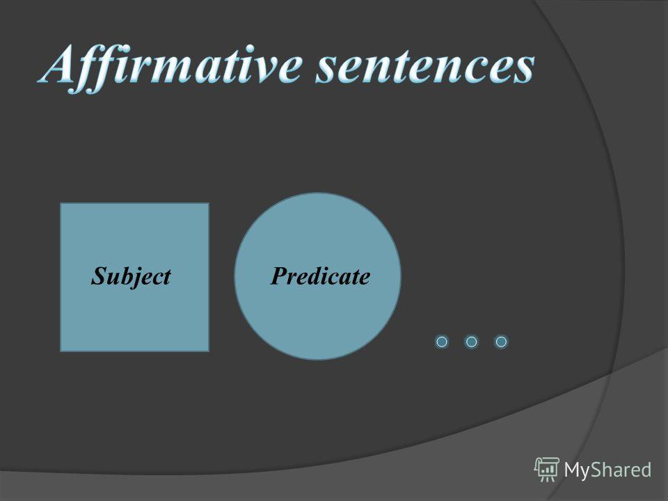 Subject Predicate