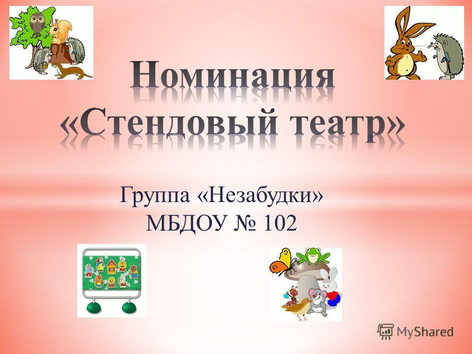 Группа «Незабудки» МБДОУ 102