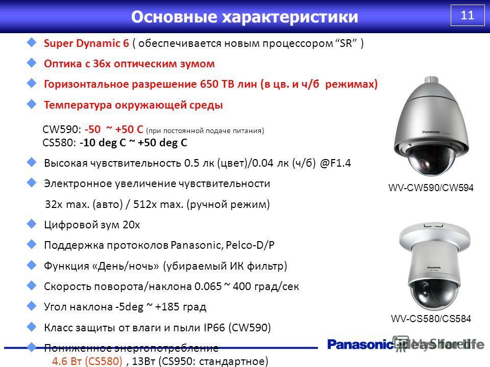 10 WV-CF334/354/374 Series DOME CameraWV-CF334WV-CF344/CF354WV-CF364WV-CF374Note CL / BW540 / 540 TV 650 / 650 TV 540 / 540 TV 650 / 650 TV CL / BW 0.6 lx / 0.4 lx0.08 lx / 0.05 lx0.6 lx / 0.05 lx0.08 lx / 0.008 lx D/NSimple True S/N50 dB52 dB50 dB52
