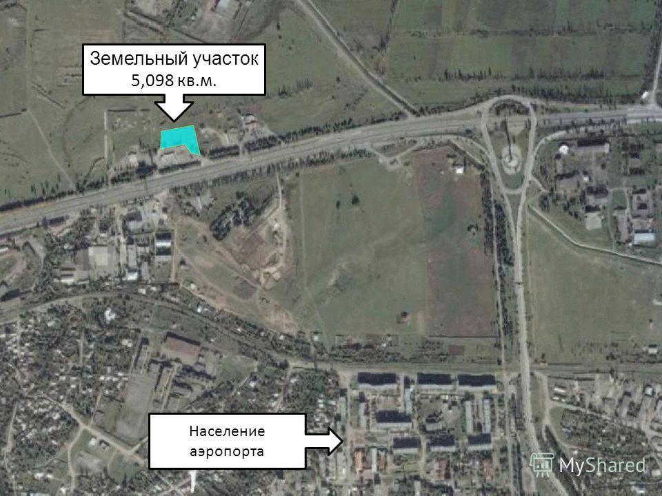 Земельный участок 5,098 кв.м. Население аэропорта