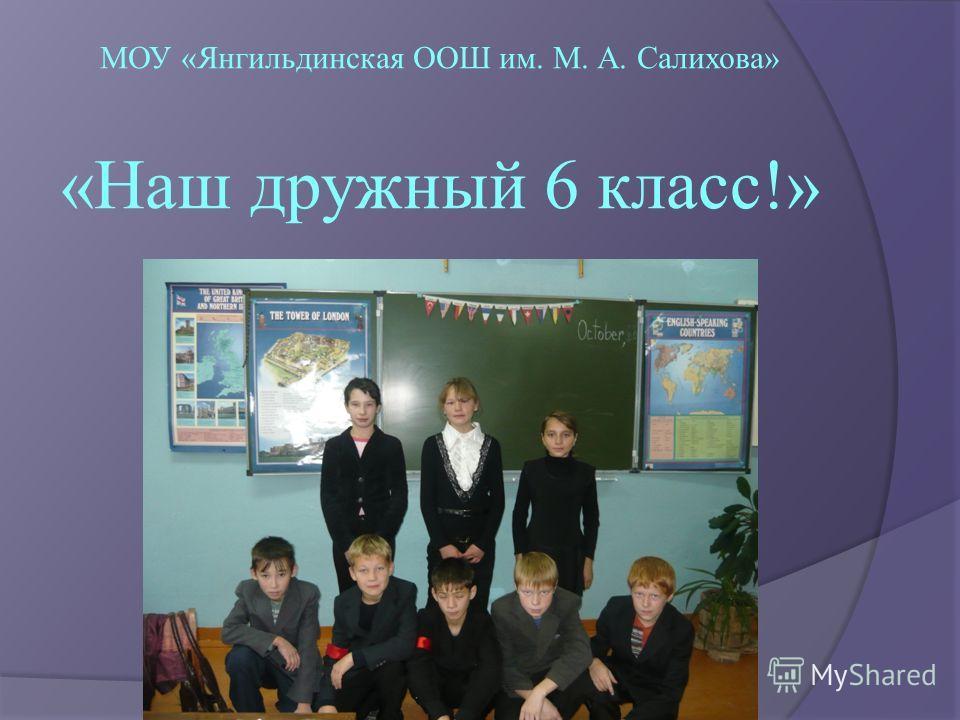 МОУ «Янгильдинская ООШ им. М. А. Салихова» «Наш дружный 6 класс!»