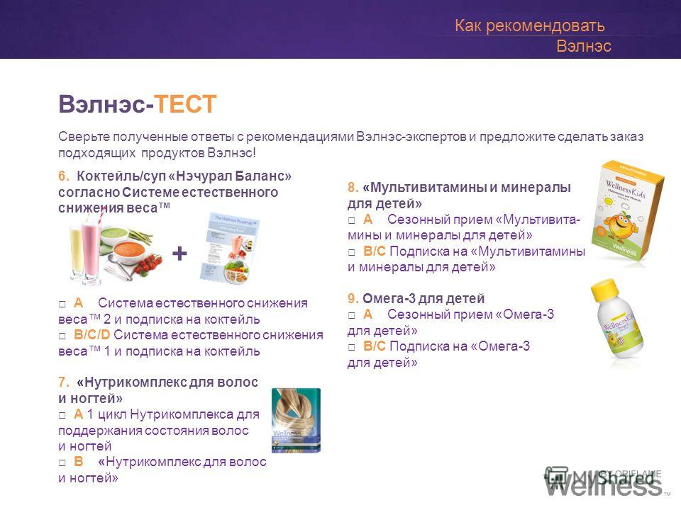 Directions: Answer all the below questions and ask your consultant to provide you with your results! Directions: Answer all the below questions and ask your consultant to provide you with your results! Вэлнэс-ТЕСТ 6. Коктейль/суп «Нэчурал Баланс» сог