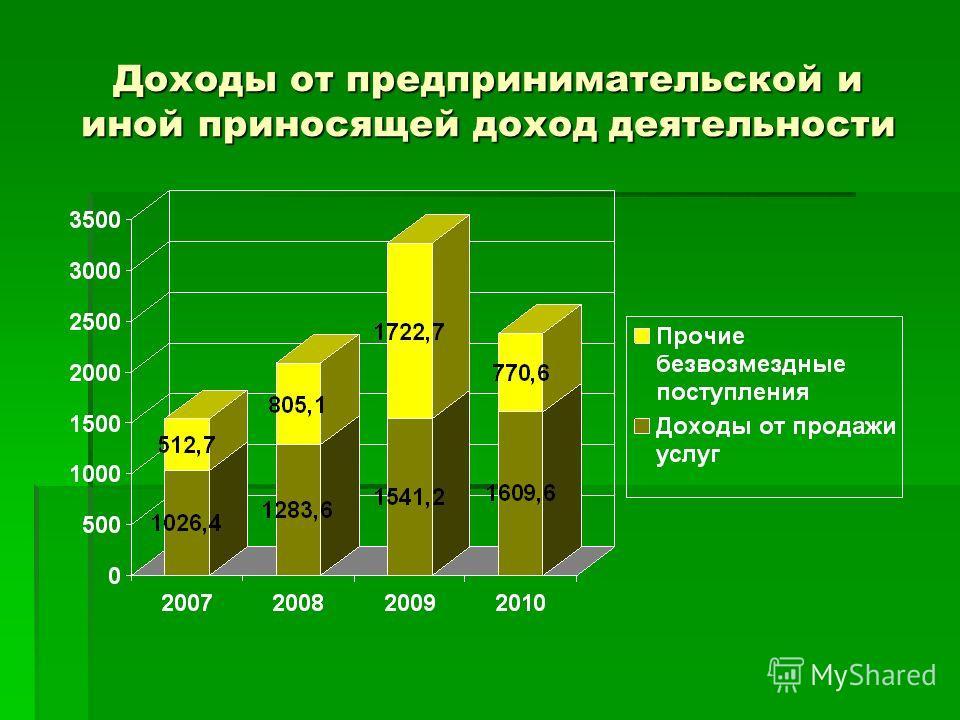 Доходы от предпринимательской и иной приносящей доход деятельности