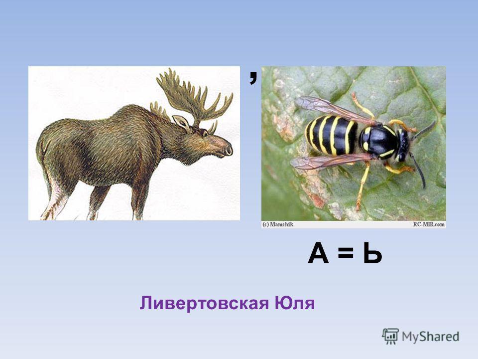 , А = Ь Ливертовская Юля