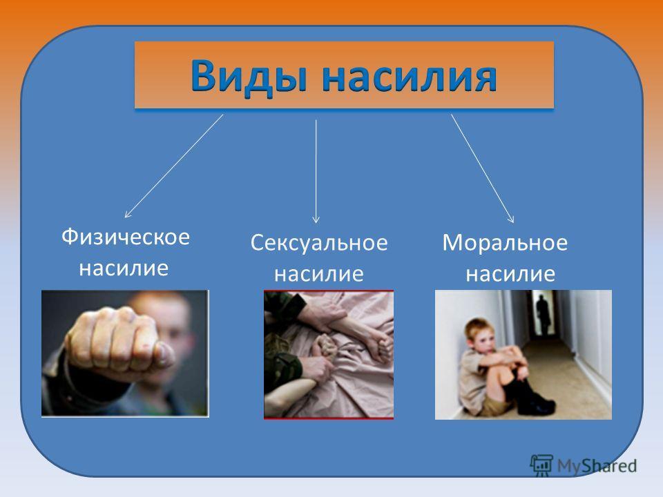 Физическое насилие Сексуальное насилие Моральное насилие