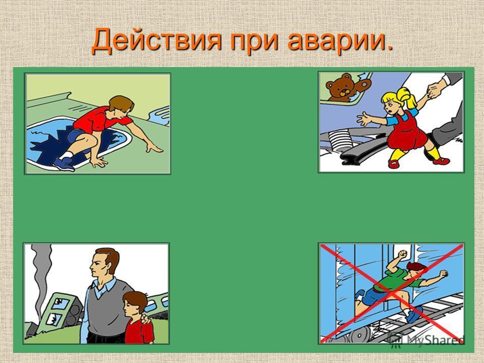 Действия при аварии.