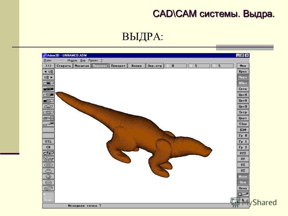 ВЫДРА: CAD\CAM системы. Выдра.