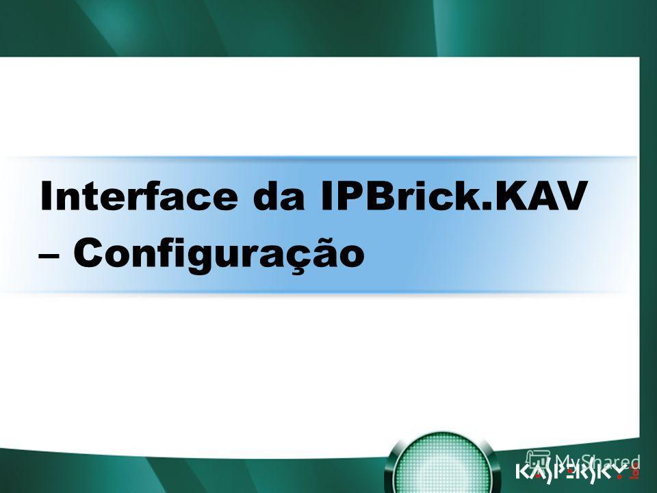 Встреча в верхах: нам покоряются любые высоты! Interface da IPBrick.KAV – Configuração