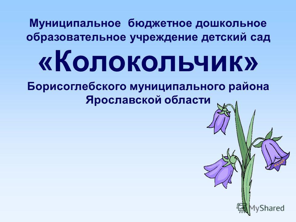 Муниципальное бюджетное дошкольное образовательное учреждение детский сад «Колокольчик» Борисоглебского муниципального района Ярославской области