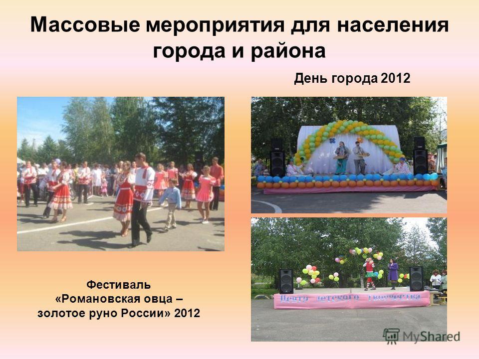 Массовые мероприятия для населения города и района Фестиваль «Романовская овца – золотое руно России» 2012 День города 2012