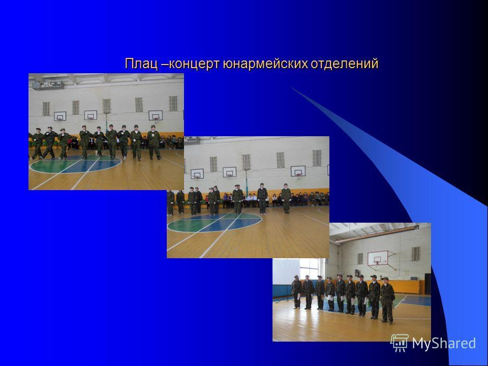 Плац –концерт юнармейских отделений