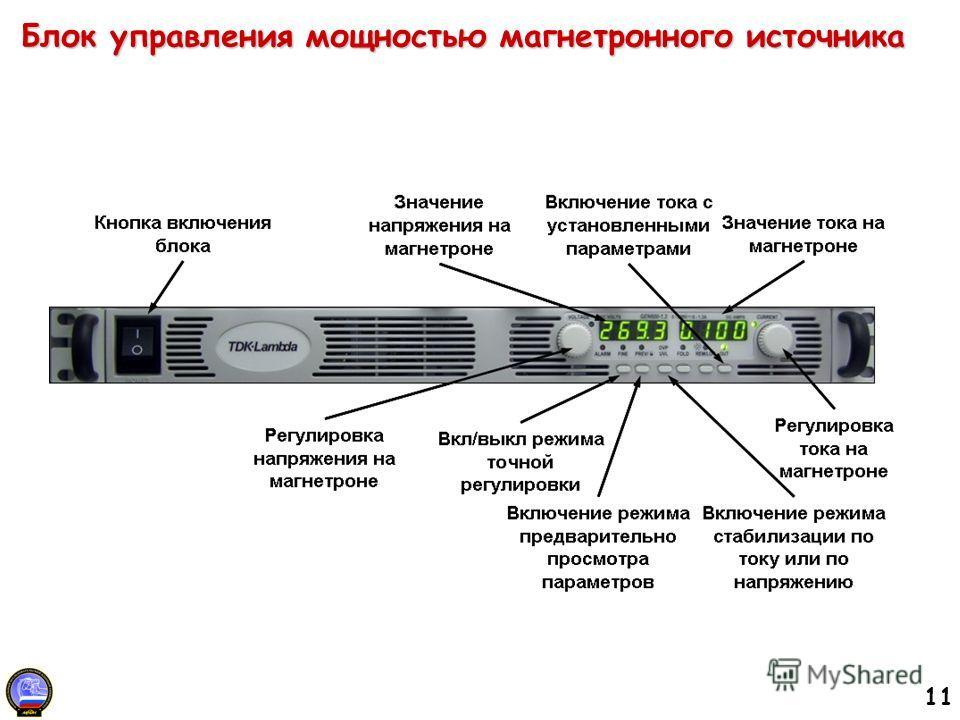 11 Блок управления мощностью магнетронного источника