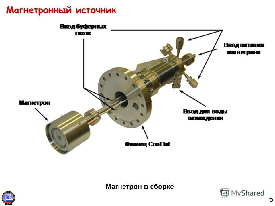 5 Магнетронный источник Магнетрон в сборке