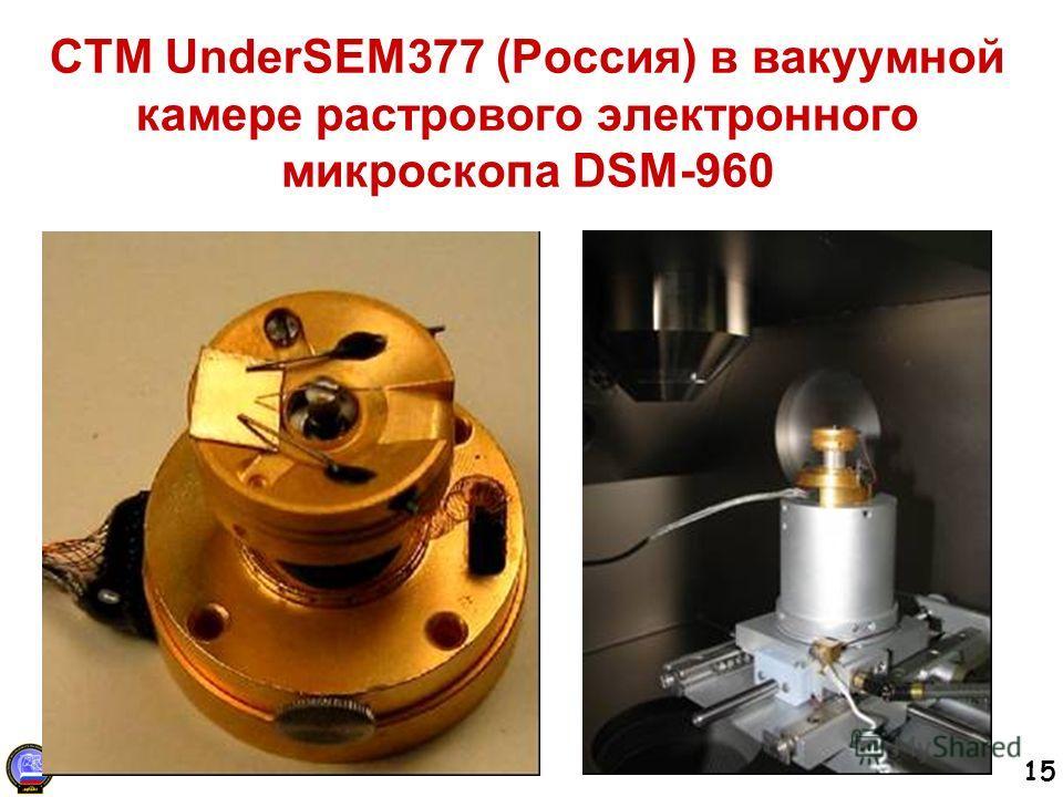 15 СТМ UnderSEM377 (Россия) в вакуумной камере растрового электронного микроскопа DSM-960