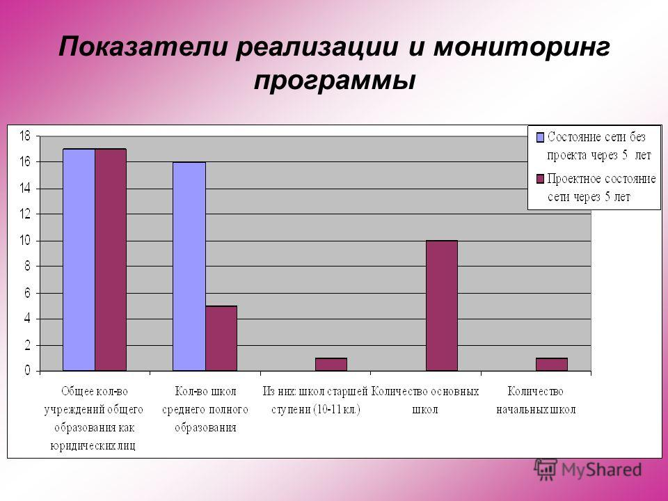 Показатели реализации и мониторинг программы