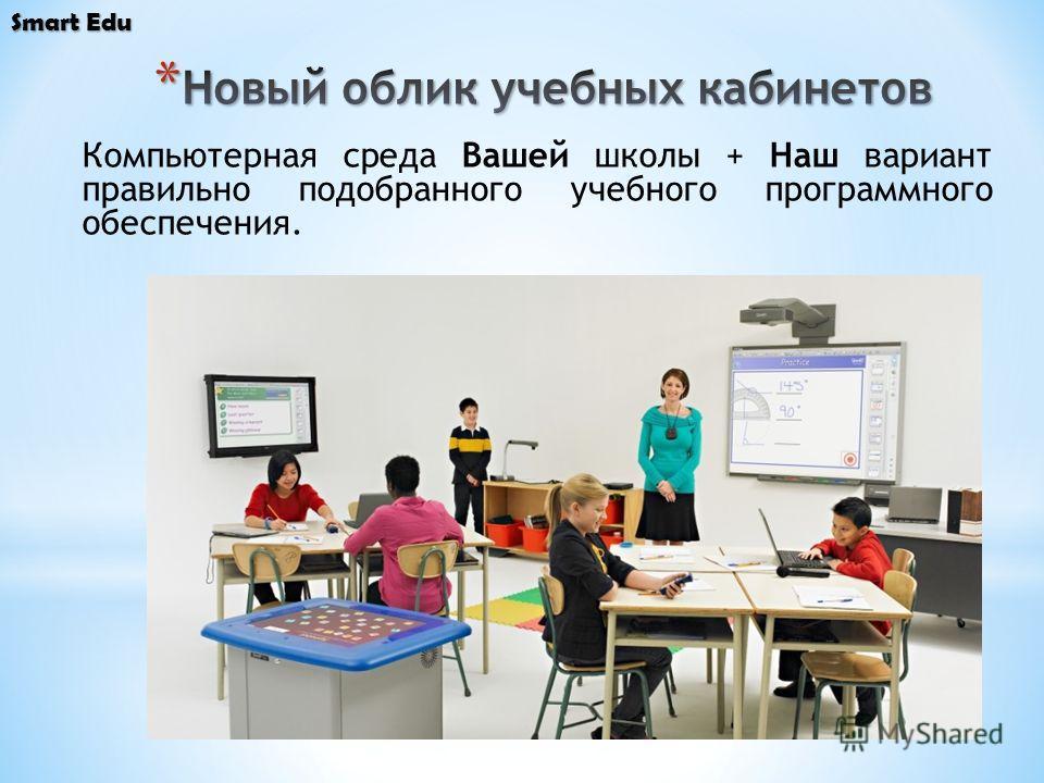 Компьютерная среда Вашей школы + Наш вариант правильно подобранного учебного программного обеспечения.