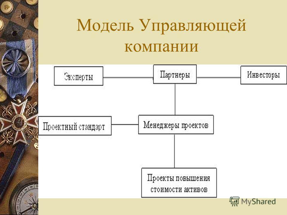 Модель Управляющей компании