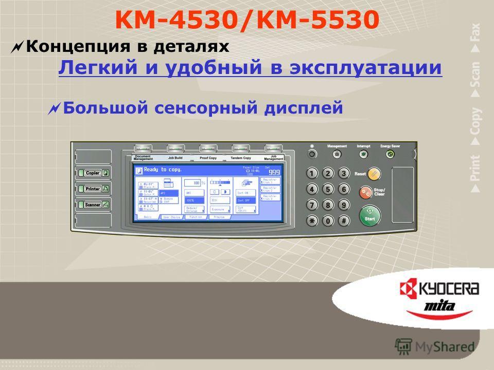 Концепция в деталях Гибкость Модульный дизайн Буклет-финишер (DF-610) Многозадачное 5-лотковое устройство (MT-1) Устройство изготовления буклетов (BF-1) Блок дырокола (PH-3C) Простой финишер (DF-600) Многозадачное 5-лотковое устройство (MT-1) Боковая