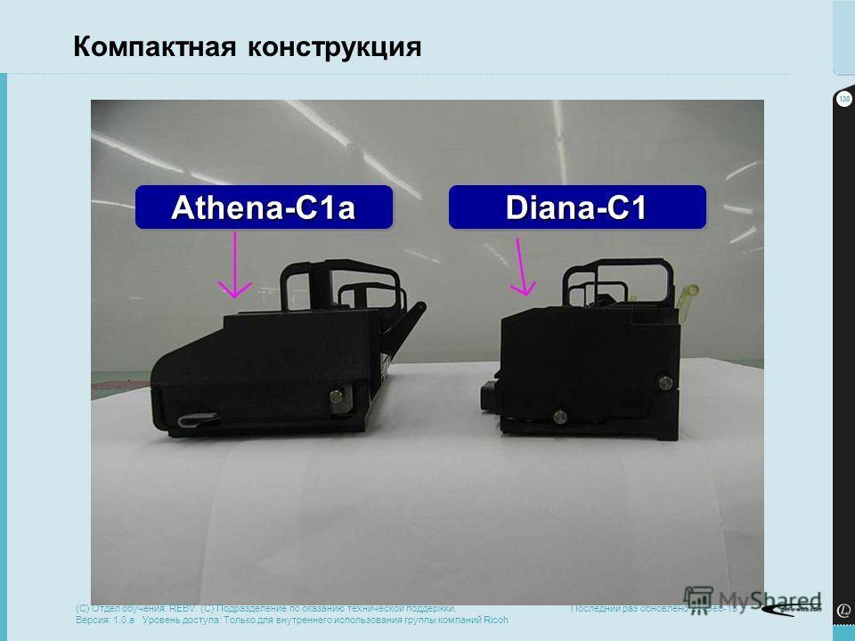 138 Последний раз обновлено 21-Dec-13 Компактная конструкция Athena-C1aAthena-C1aDiana-C1Diana-C1 (C) Отдел обучения. REBV. (C) Подразделение по оказанию технической поддержки. Версия: 1.0.a Уровень доступа: Только для внутреннего использования групп