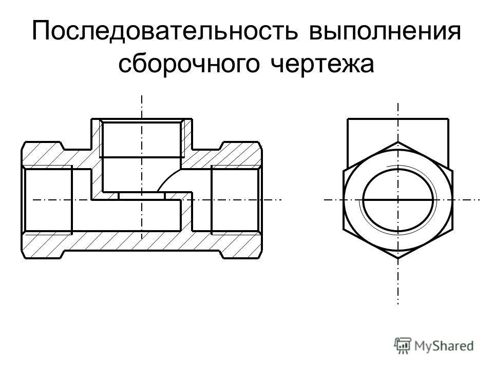 Последовательность выполнения сборочного чертежа