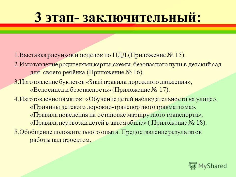 рисунков и поделок по ПДД.