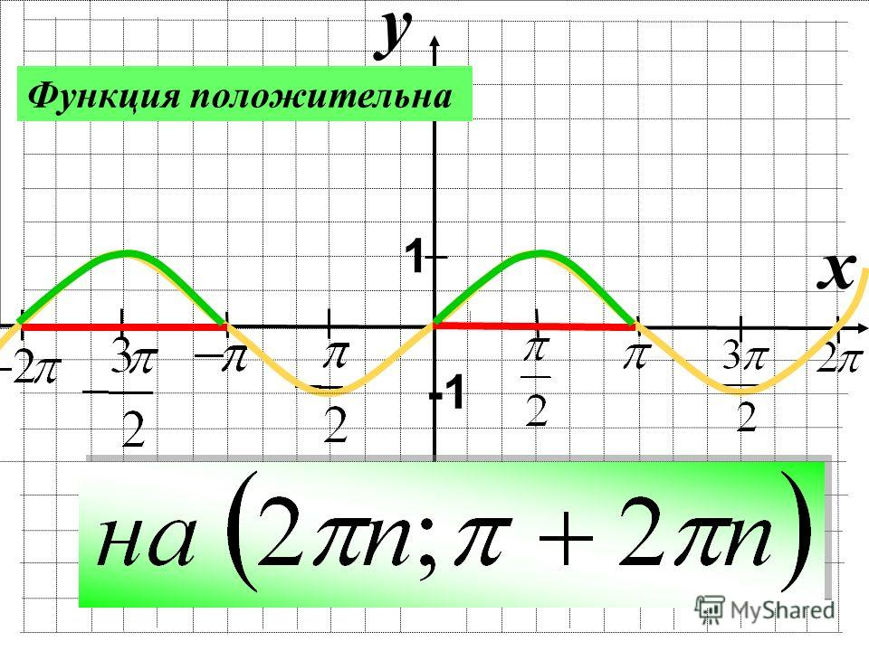 y x 1 Функция положительна