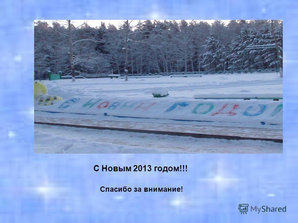 С Новым 2013 годом!!! Спасибо за внимание!