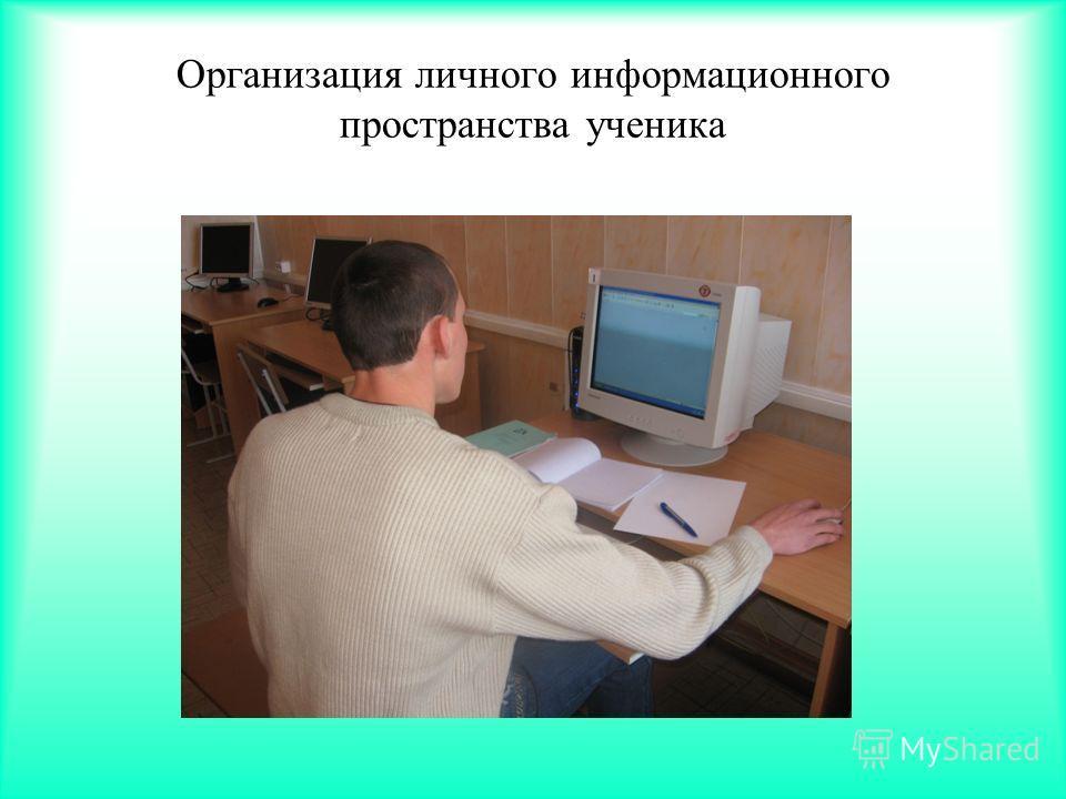 Организация личного информационного пространства ученика