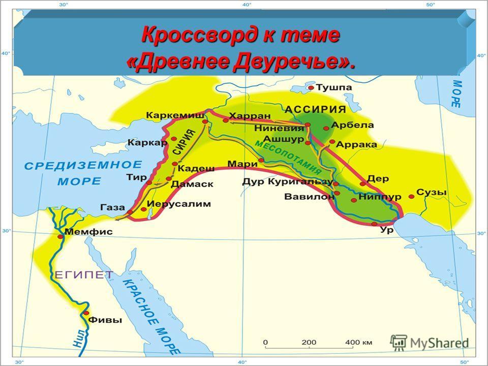 Кроссворд к теме «Древнее Двуречье».