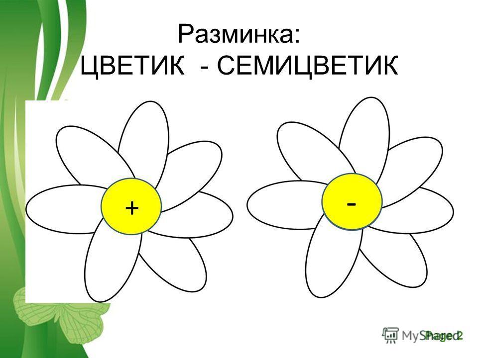 Free Powerpoint TemplatesPage 2 Разминка: ЦВЕТИК - СЕМИЦВЕТИК