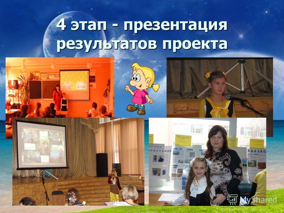 4 этап - презентация результатов проекта