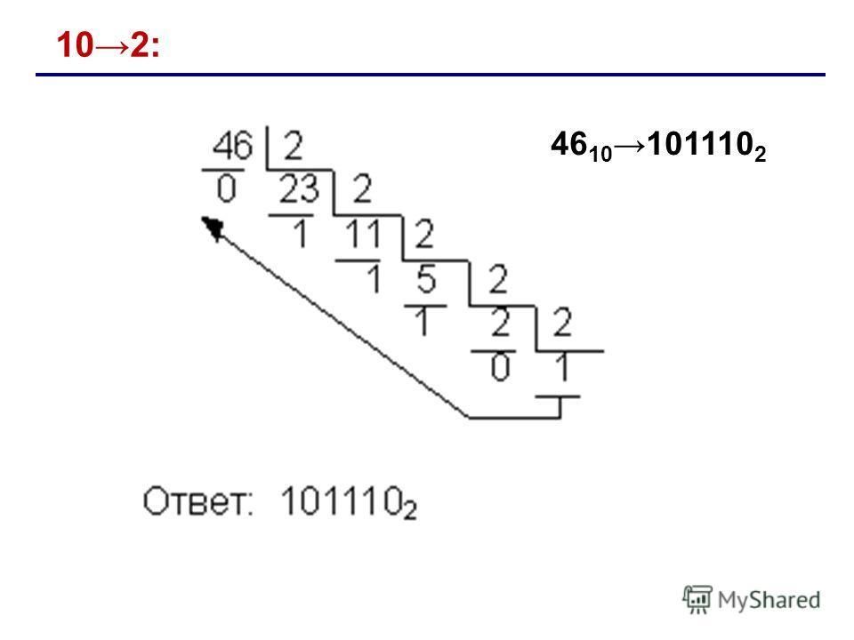 102: 46 10 101110 2