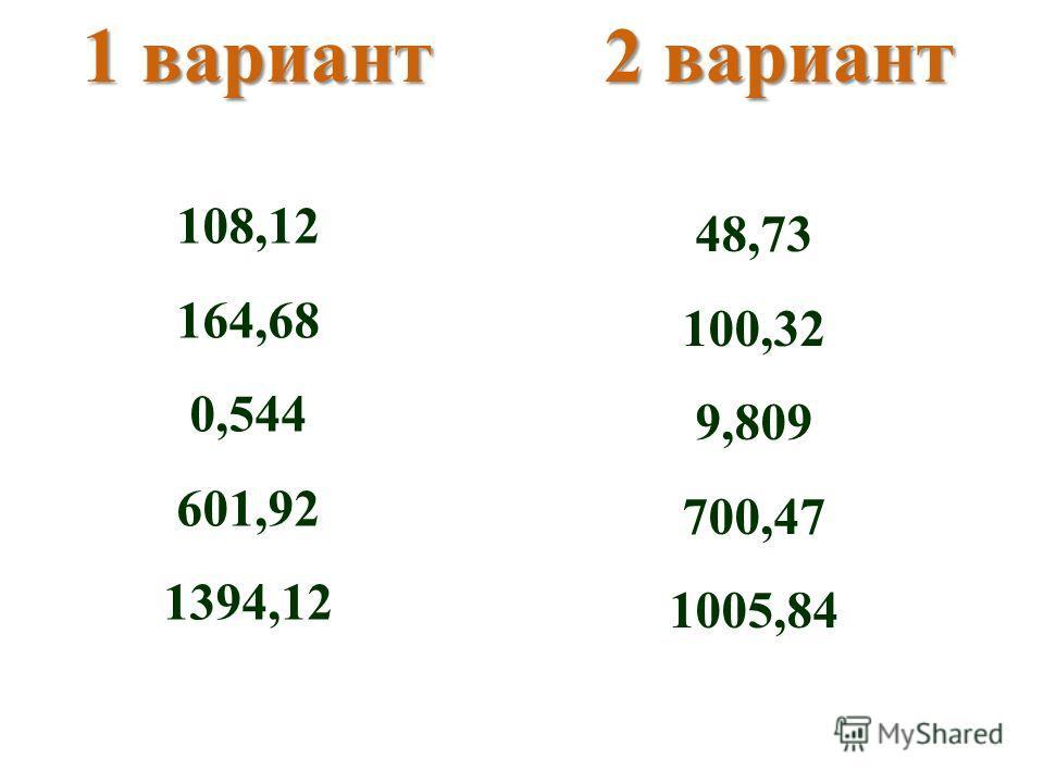 1 вариант2 вариант 108,12 164,68 0,544 601,92 1394,12 48,73 100,32 9,809 700,47 1005,84