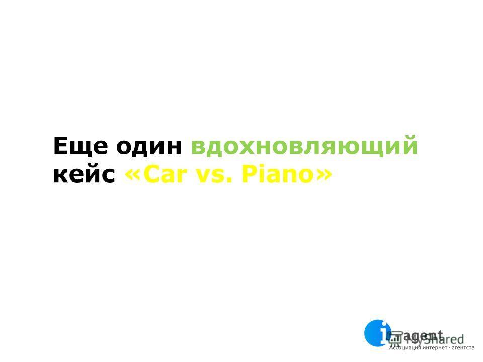Еще один вдохновляющий кейс «Car vs. Piano»