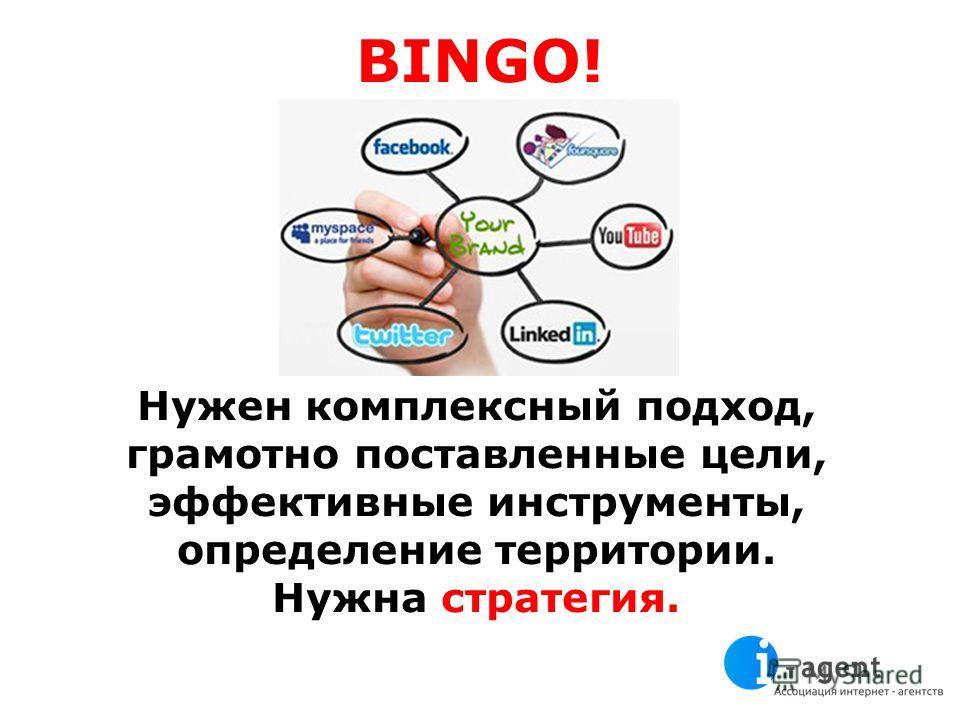 BINGO! Нужен комплексный подход, грамотно поставленные цели, эффективные инструменты, определение территории. Нужна стратегия.