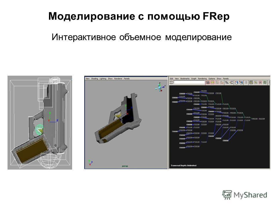 Моделирование с помощью FRep Интерактивное объемное моделирование
