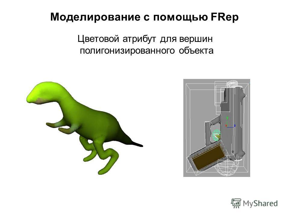 Моделирование с помощью FRep Цветовой атрибут для вершин полигонизированного объекта