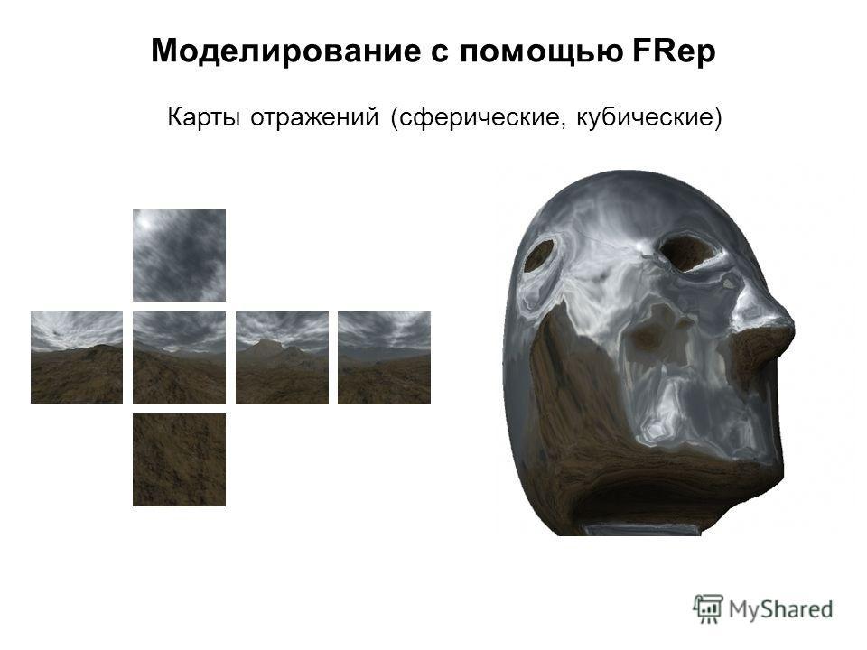 Моделирование с помощью FRep Карты отражений (сферические, кубические)