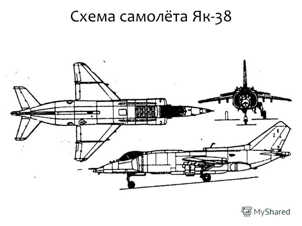 Схема самолёта Як-38